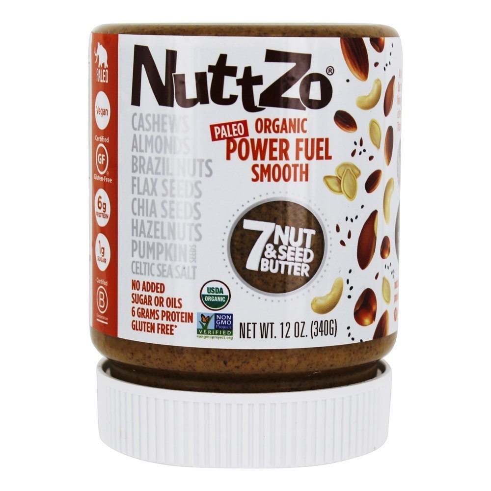 NUTTZO Organic Smooth Power Fuel Nut And Seed Butter, 12 Ounce