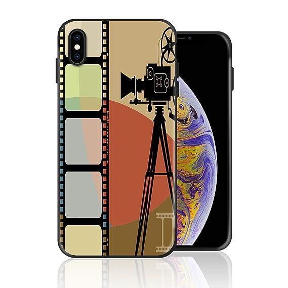 large choix de designs meilleur service le prix reste stable Amazon.com: Silicone Case for iPhone Xs, Film Projector ...