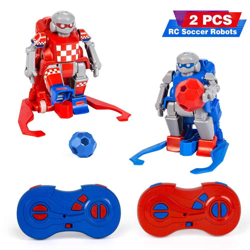 le-idea Kids Toys Gift RC Soccer Robots for Kids 2.4G rc Robot with 2 Goals Soccer Sport Ball Games for Boys and Girls Age 2, 3, 4,5,6,7-14 Years Old Indoor Outdoor by le-idea