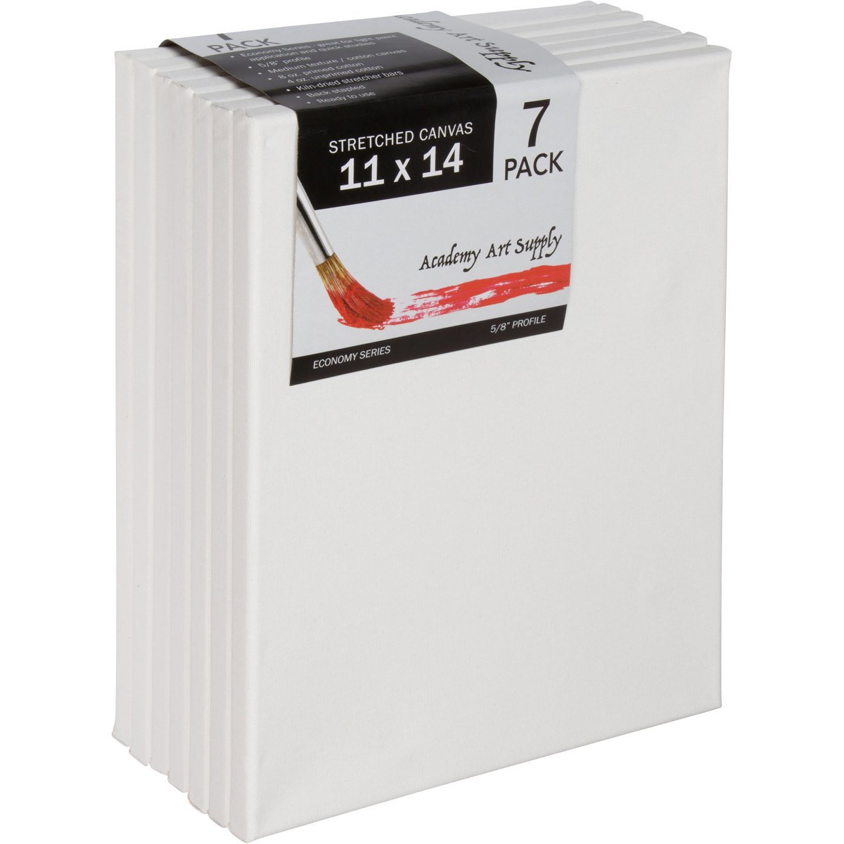 11 X 14 Inch Stretched Canvas Value Pack of 7 by Academy Art Supply