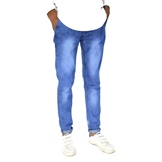 56d91a5d6b TOI Blue Jeans with White Shades Denim Slim Fit Stretchable Jeans ...