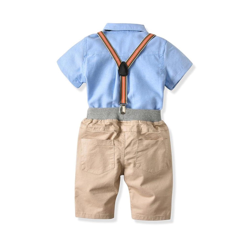 Freizeit Shorts Hosentr/äger Fliege Shirt Baby Jungen Gentleman Anzug