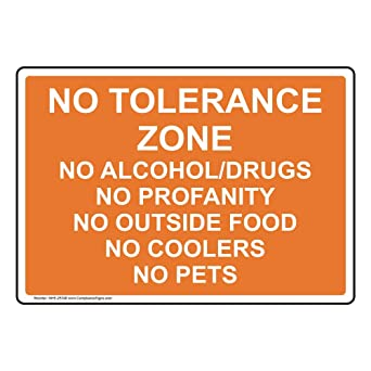 Warning Absolutely No Illicit Drug Activity is Sign 10x7 inch Plastic for Alcohol//Drugs//Weapons Made in USA by ComplianceSigns