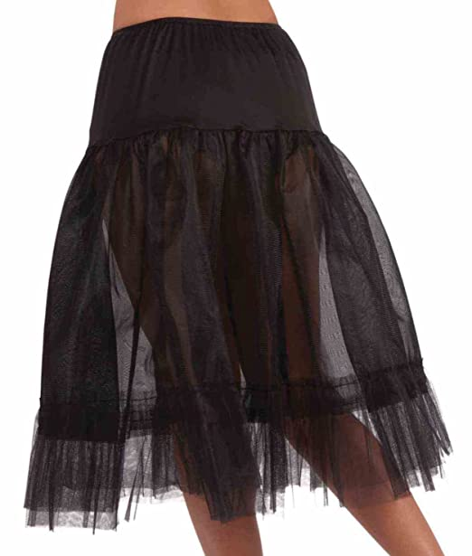 2fff0a69876d8 Amazon.com: Women's Tea Length Crinoline Slip, Black, One Size: Clothing