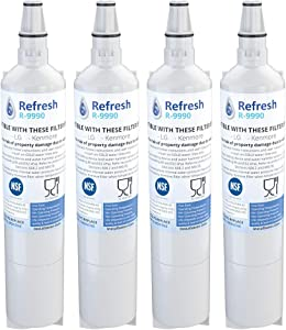 Refresh Replacement for LG 5231JA2006A, 5231JA2006B, LT600, LT600P also fits Kenmore 46-9990, 9990, 469990 Refrigerator Water Filter (4 Pack)
