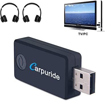 Transmisor Bluetooth para TV, PC (soporta 3.5mm, RCA, USB Audio de PC) Conexión Dual Adaptador Inalámbrico de Audio para Auriculares, Baja Latencia, Alta Fidelidad Estéreo, Plug and Play: Amazon.es: Electrónica