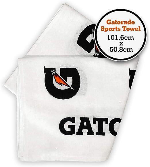 Gatorade Toalla deportiva de algodón Blanco: Amazon.es: Hogar
