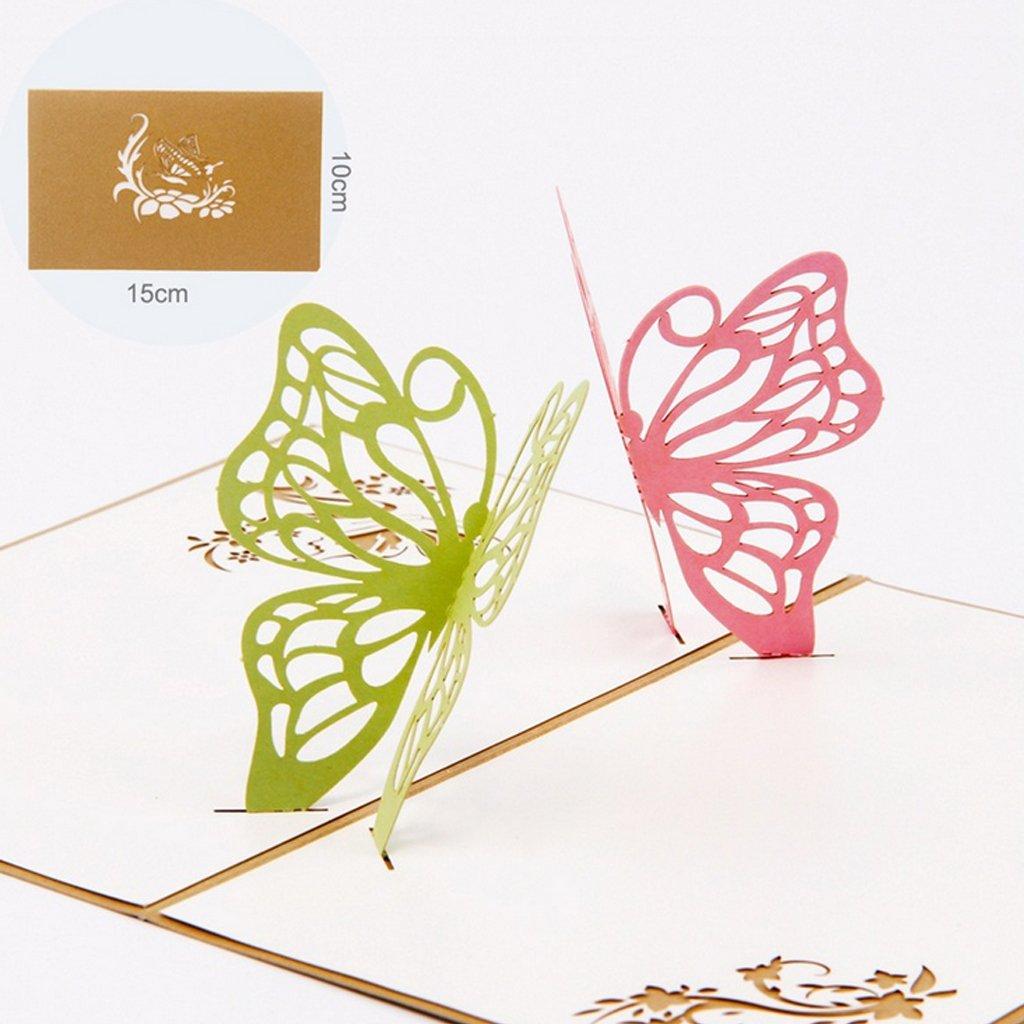 Biglietto di auguri di compleanno con scrittaExing farfalle in 3D motivo Edition Colibri