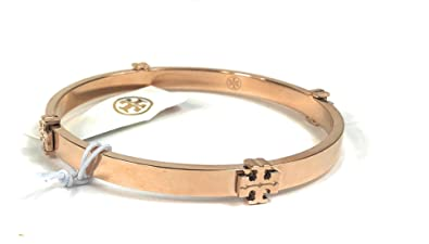 630e8ce500b71b Image Unavailable. Image not available for. Color: Tory Burch Station  Bangle Bracelet Rose Gold