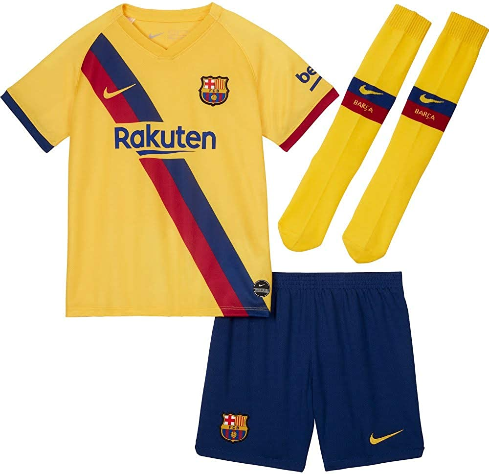 nike barcelona little boys away kit 2019 2020 amazon co uk clothing nike barcelona little boys away kit 2019 2020