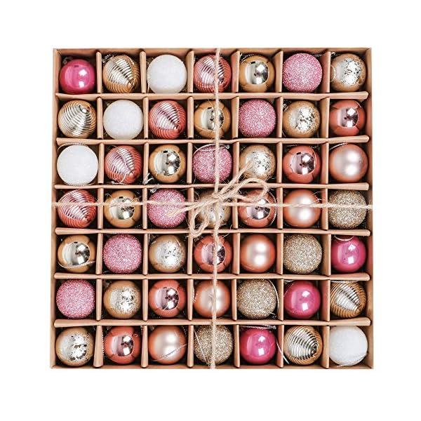 Victor's Workshop 49 Pezzi 3cm Palline di Natale, Ornamenti di Palle di Natale Infrangibili Rosa e Viola per la Decorazione Dell'Albero di Natale 1 spesavip