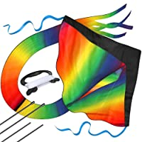 aGreatLife Huge Rainbow Kite for Kids with Safety Certificate Kite Easy To Fly for Outdoor Games and Activities | Easy to Fly and Soars High A Great Way to Enjoy and Spend Time with Friends and Family