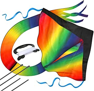 aGreatLife Huge Rainbow Kite for Kids a Kite Easy to Fly for Outdoor Games and Activities   Easy to Fly and Soars High, A Great Way to Enjoy and Spend Time with Friends and Family