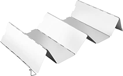 OUTAD Plegable Parabrisas para Camping Stove