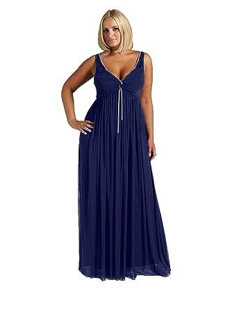 2bab6e06775fe0 Viviana Damen Empire Kleid violett aubergine: Amazon.de: Bekleidung