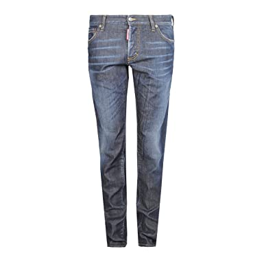 64e124b7017ee6 DSQUARED2 Men's Slim Jean Blue Done Deal Wash 52 33