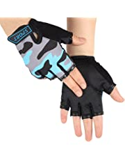 Outdoor Cycling Gloves Full Finger Touch Screen Bike Riding Mitts Padded Gloves