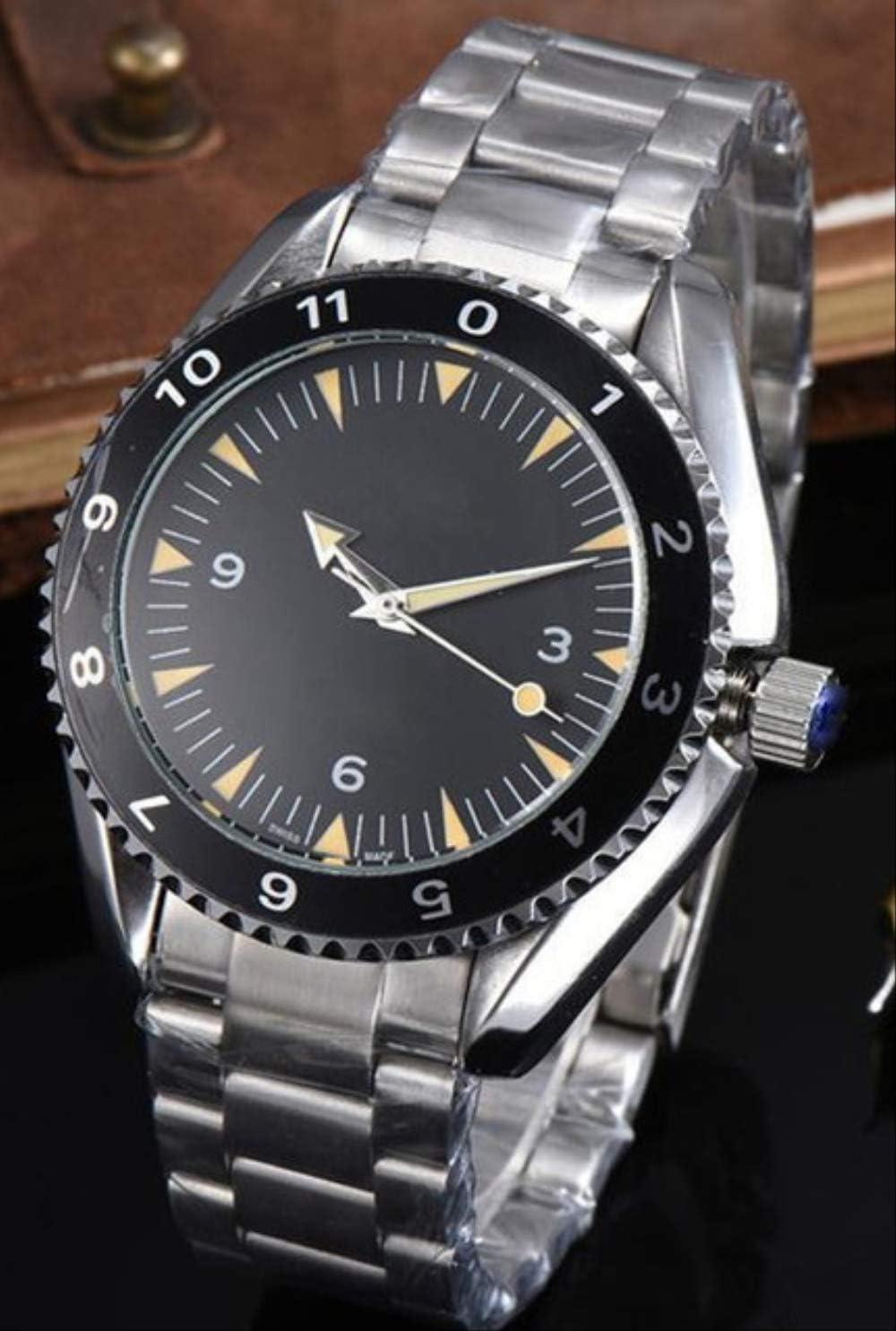 AHELUSB Relojes mecánicos automáticos Hombre James Bond 007 Spectre Sport Reloj de Pulsera de Lona de Acero Inoxidable Vidrio con Respaldo deAcero
