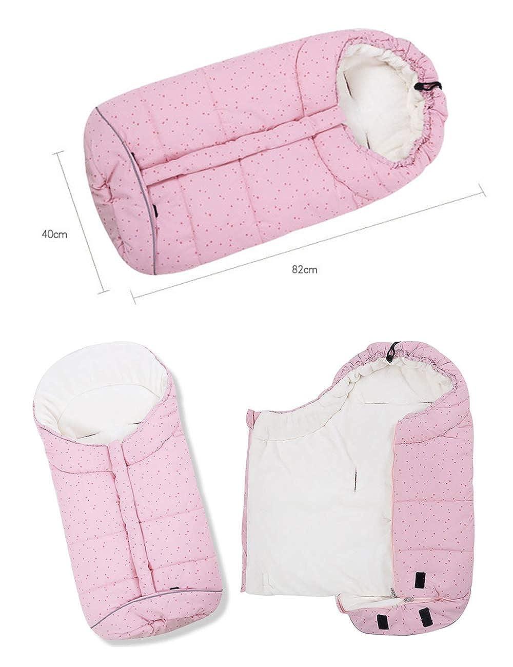 Forro Polar Impermeable Saco de Paseo Resistente contra el Viento para Ni/ños Ni/ña BESBOMIG Saco de Dormir Unisex para Cochecito de Beb/é Universal