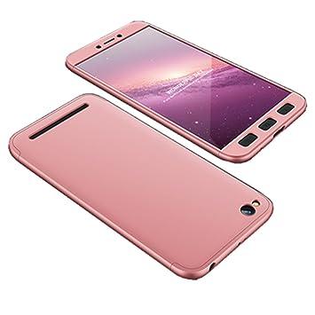PANXIYUE Funda Xiaomi Redmi 5A Carcasa 360 Grados Integral Carcasa Cuerpo Completo Caso Cubierta 3 en 1 Bumper Ultra Delgado Anti-Arañazos & ...