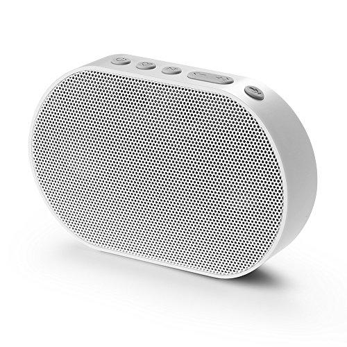 GGMM E2 Portable WiFi Bluetooth Speaker Alexa Built-in Alexa Speaker, Multi-Room Play Online Streaming Music Smart Stereo Speaker, Wireless Airplay Speaker with 10W Powerful Stereo Sound (White) ()