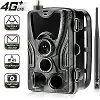QYLT 4G 1080P 16MP Wildkamera Fotofalle mit IP65 wasserdichte Jagdkamera 36 Pcs Low-Glow 940nm Infrarot-LEDs, Infrarot-Nachtsicht bis zu 20m, Triggerzeit 0.3s für Jagd Überwachung