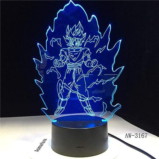 Orangeww Lámpara de ilusión visual 3d / Lámpara de escritorio ...