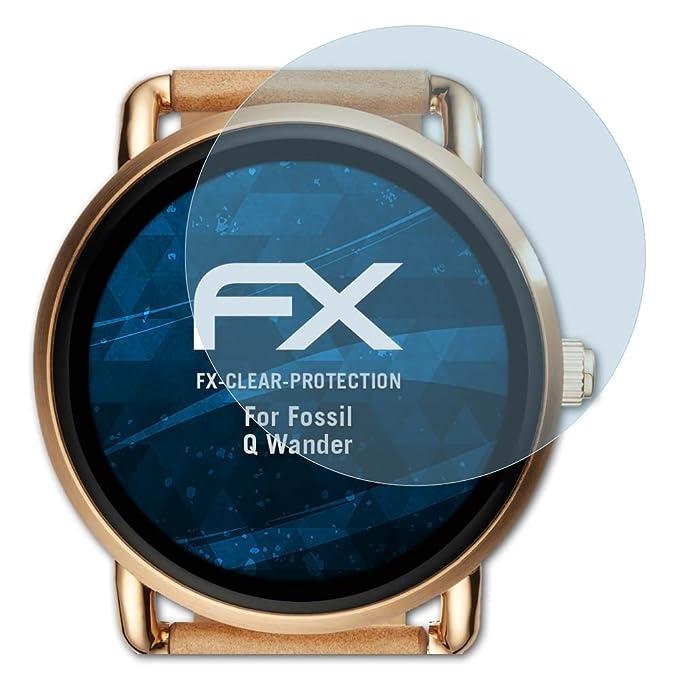 atFoliX Lámina Protectora de Pantalla Compatible con Fossil Q ...