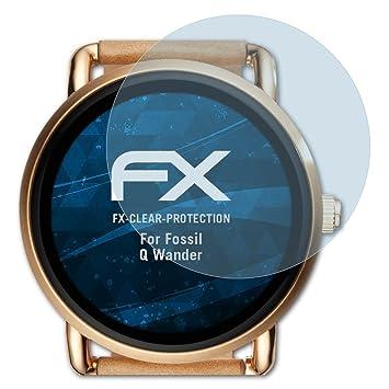 atFoliX Film Protection décran Compatible avec Fossil Q Wander Protecteur décran,