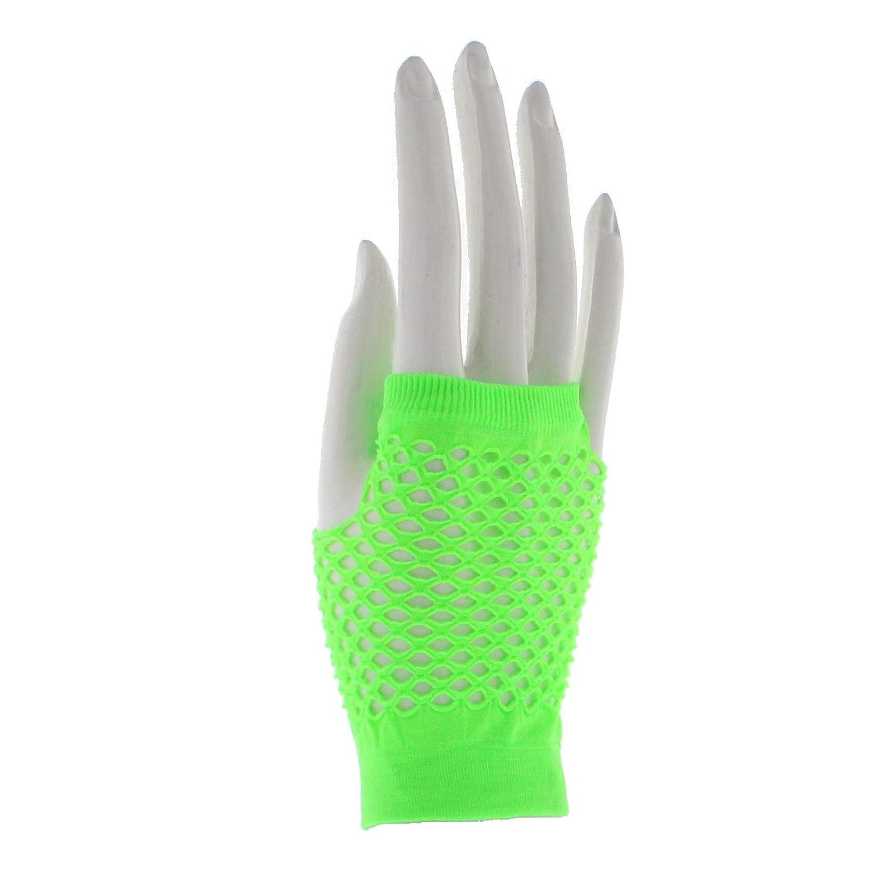 Zac's Alter Ego Women's Short Fishnet Fingerless Gloves Fancy Dress