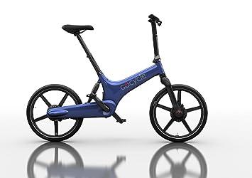 Bicicleta eléctrica plegable de diseño, GoCycle G3 azul con base pack + Vuelo de regalo