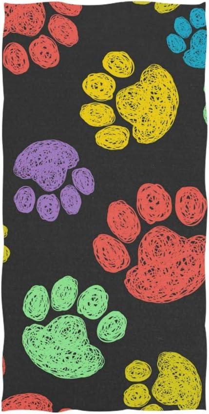 FANTAZIO Toalla de algodón con diseño de Huellas de Gato y Perro: Amazon.es: Hogar