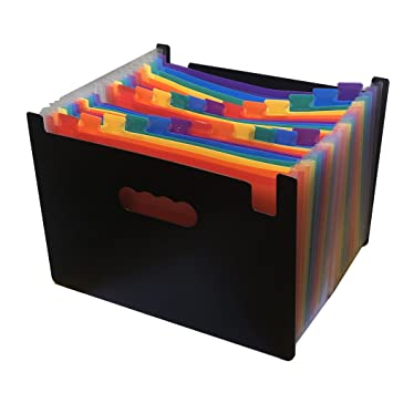 YEBMoo - Carpeta de archivadores expansibles (24 bolsillos), portátil, A4, expansible