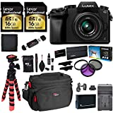 Panasonic LUMIX DMC-G7KK DSLM 4K Camera (Black), 14-42 mm Lens Kit, 16GB 2 Pack, Ritz Gear Tripod, Camera Bag, Cleaning Kit, Card Reader, Filter Kit, Battery, Charger and Accessory Bundle