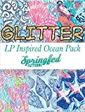 LP Inspired Ocean Prints GLITTER HTV Heat Transfer Vinyl Pattern Pack #1 Six Patterns 12x18!