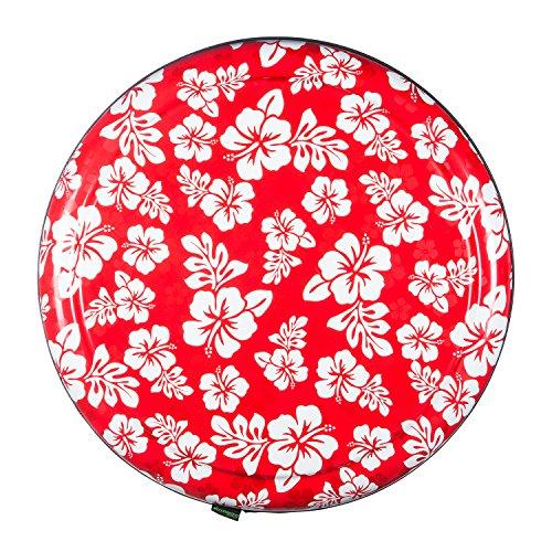 35'' Rigid Tire Cover (Plastic Face & Vinyl Band) - Hawaiian Print - Red by Boomerang (Image #1)