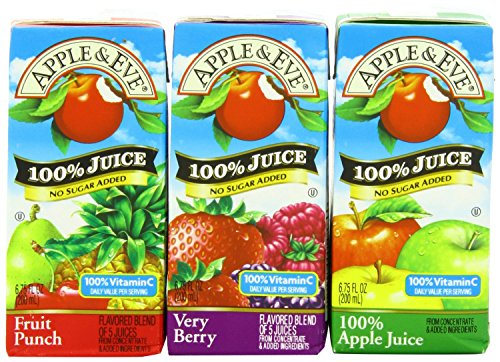 (Apple & Eve 100% Juice Variety Pack, 18 Count, 6.75 Oz)