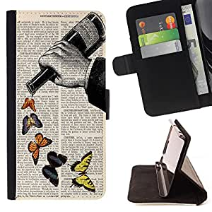 Dragon Case - FOR Sony Xperia Z3 D6603 - fly by yourful - Caja de la carpeta del caso en folio de cuero del tir¨®n de la cubierta protectora Shell