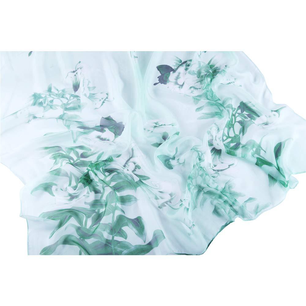 c3f40531b0533 Schals   Tücher Seidenschals Damen 100% Seiden Schal Elegante Seidentuch  Hohe Qualität Hautfreundlich Anti-Allergie Halstuch Tuch Schals