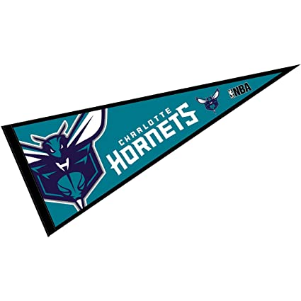 amazon com wincraft charlotte hornets pennant full size 12 x 30