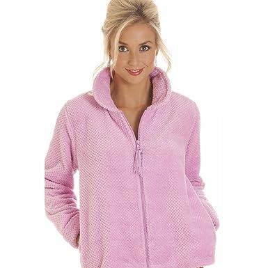 meilleure sélection 746e2 aae64 Veste de Pyjama en matière Polaire Douce pour Femme - Fermeture Éclair -  Rose - Tailles 38 à 52