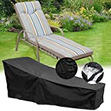 feifei Waterproof Patio Chaise Lounge Covers Durable & Discoloration Resistance Fabric Sun Recliner Protective Covers(82'' X 29'' X 31'') (1)