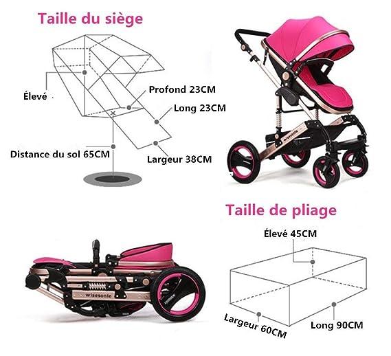 MU Sillas de paseo cómodas Cochecito de bebé para sillas de ...