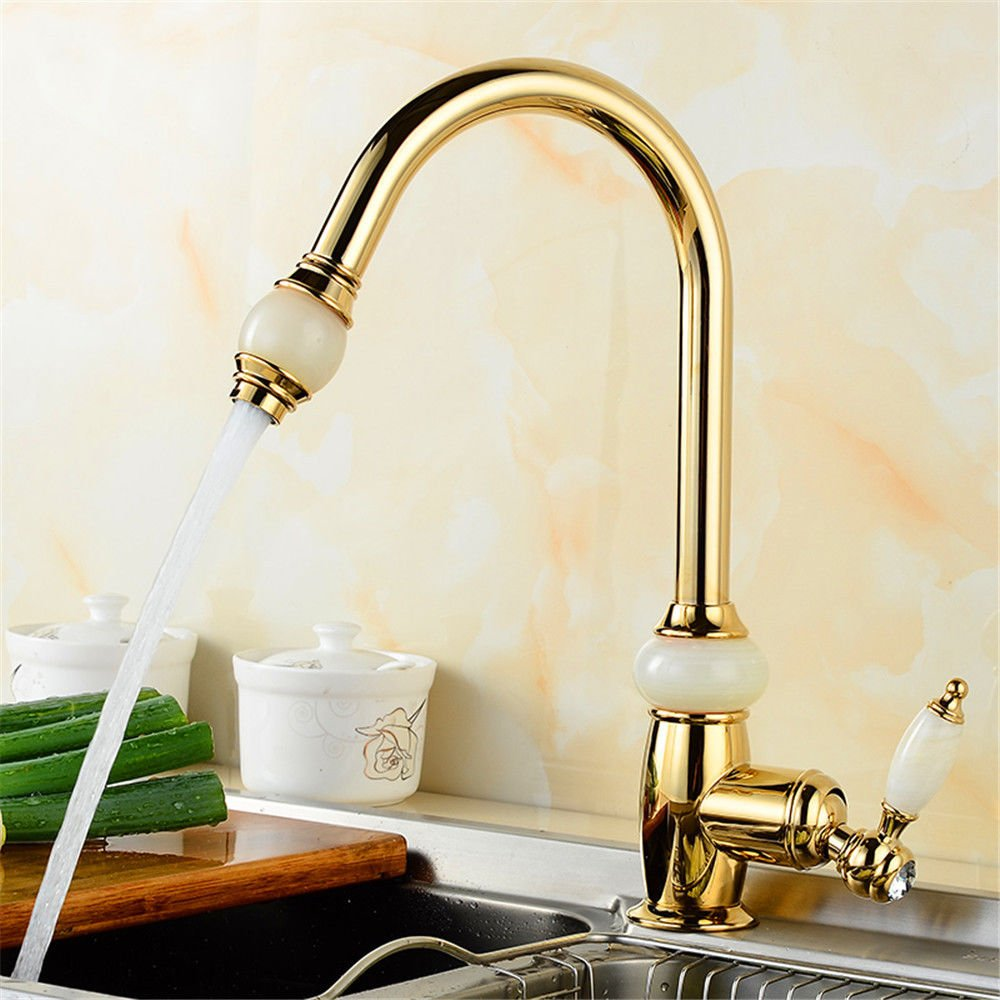 Gyps Faucet Basin Mixer Tap Waterfall Faucet Antique Bathroom All copper pull gold kitchen faucet single hole basin cold water tap.,Mixer Tap Bathroom Tub Lever Faucet