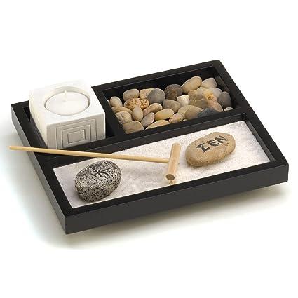 adorable making a zen garden at home. Gifts  Decor Tabletop Zen Sand Rocks Candle Holder Rake Garden Kit Amazon com