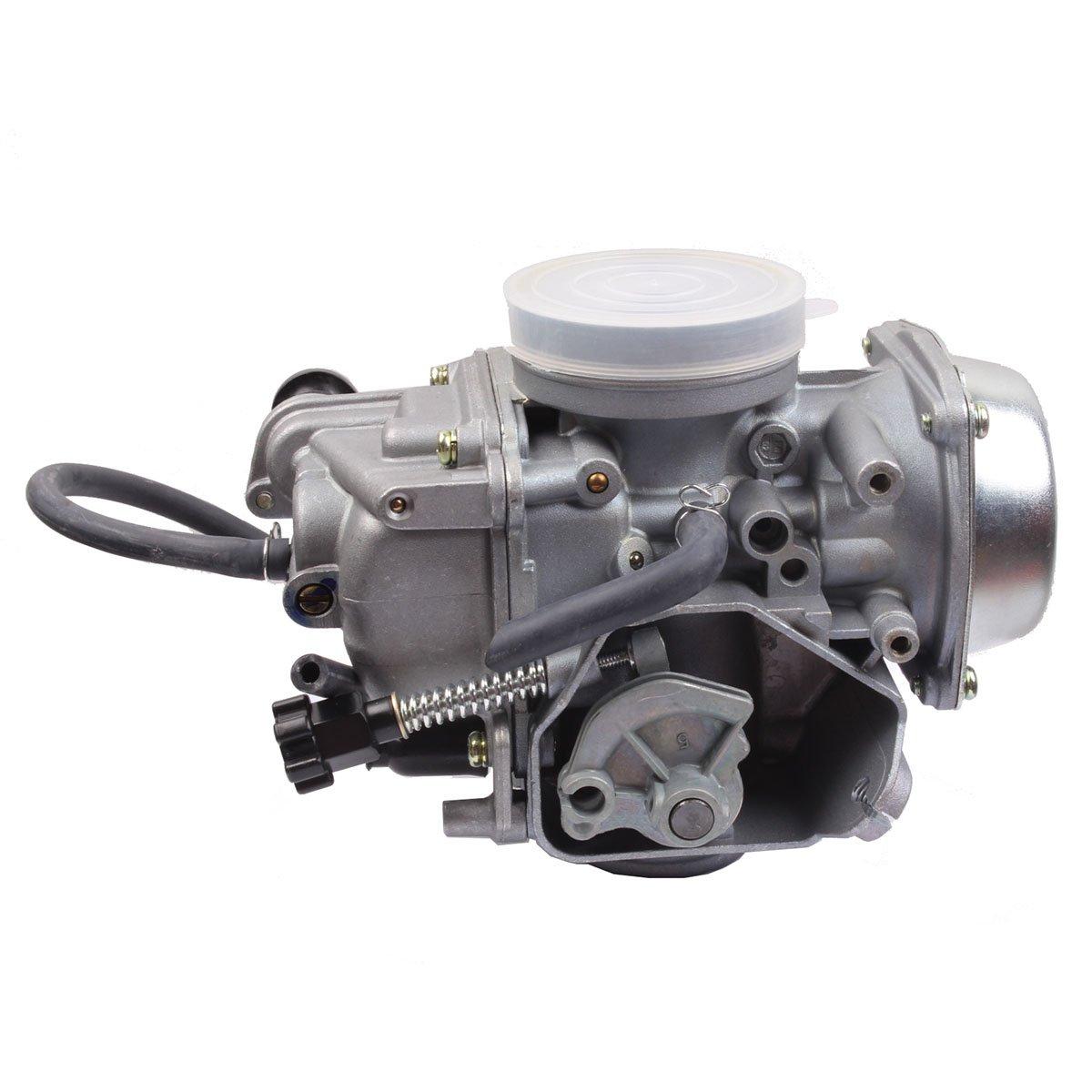 HONDA TRX350 ATV CARBURETOR TRX 350 RANCHER 350ES/FE/FMTE/TM/CARB 2000-2006 TRX300 1988-2000 TRX400 TRX 400FW Foreman CARB, TRX 450 Carburetor TRX450FE 450FE FE Foreman CARB by BETOOLL (Image #3)