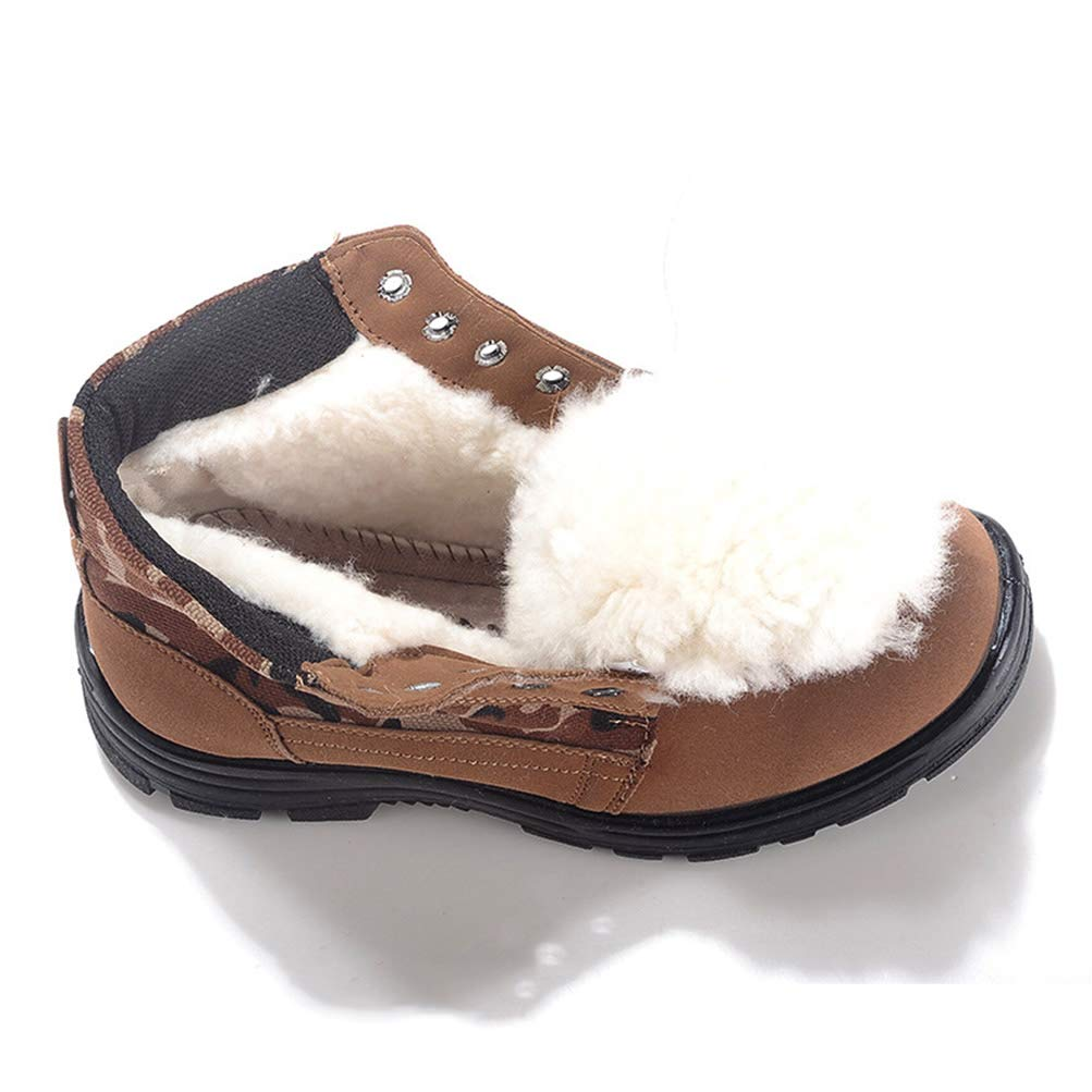 Qianliuk Männer Outdoor Outdoor Outdoor Schnee Stiefel Wolle warme Baumwolle Stiefel große runde Kopf hohe Spitze Rutschfeste Wanderschuhe 9cd575