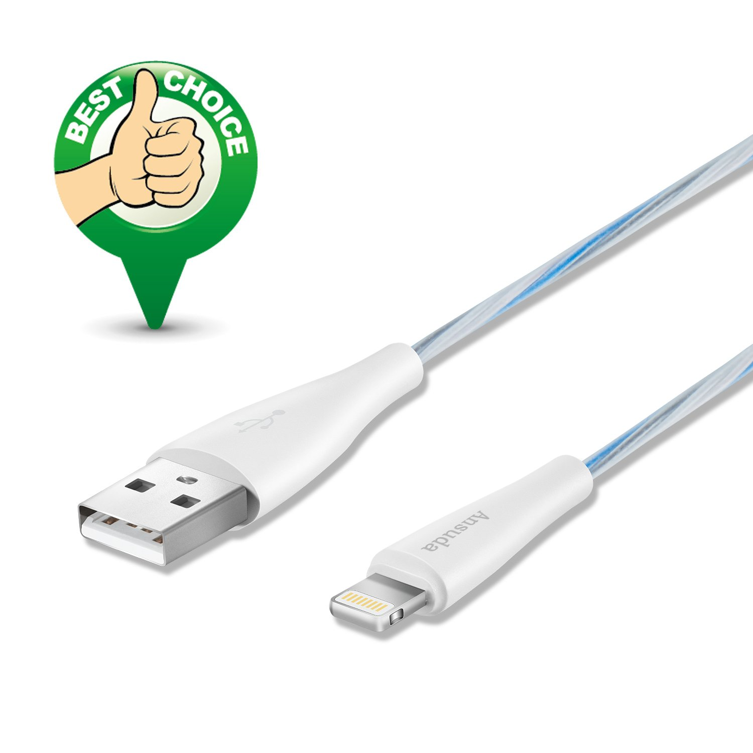Amazon.com: Ansuda Charging Cables 4Pack 5FT/1.5M Lightning Cable to ...