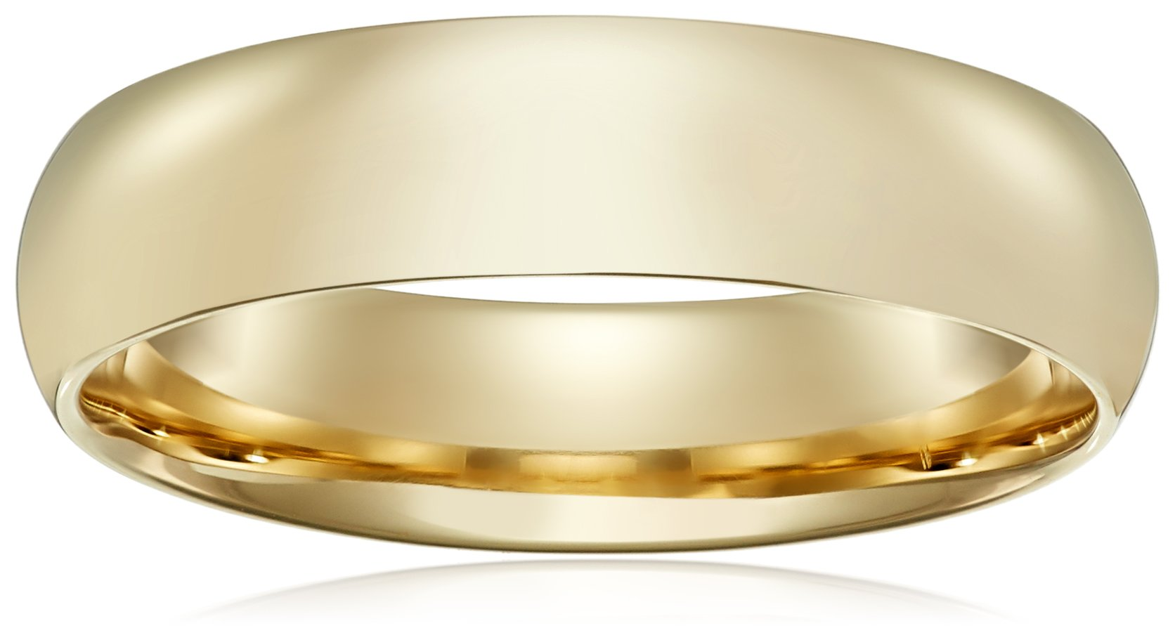 galleon   light comfort fit 14k yellow gold band 6mm size 11