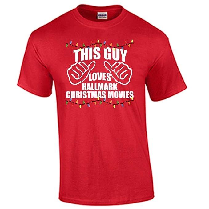 Hallmark Christmas T Shirt.Hallmark Christmas Movies T Shirt This Guy Loves Hallmark Christmas Movies Tee
